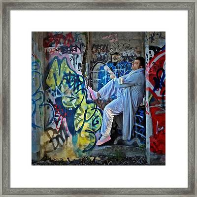 Dalyn At The Graffiti Underground Framed Print