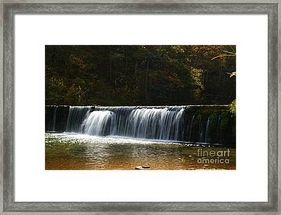 Framed Print featuring the photograph Dam Falls At Rockbridge by Julie Clements