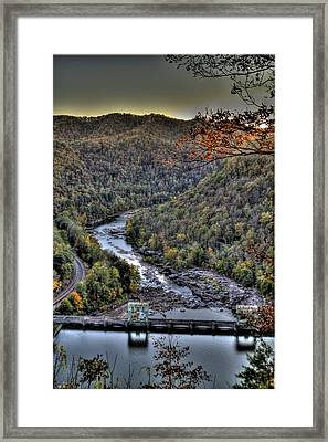 Framed Print featuring the photograph Dam In The Forest by Jonny D