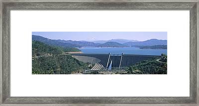 Dam On A Lake, Shasta Dam, Shasta Lake Framed Print