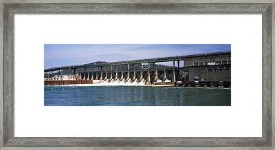 Dam On A River, Chickamauga Dam Framed Print by Panoramic Images
