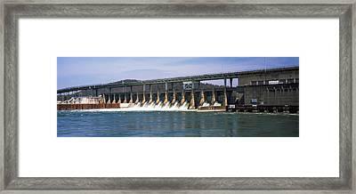 Dam On A River, Chickamauga Dam Framed Print