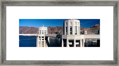 Dam On A River, Hoover Dam, Colorado Framed Print