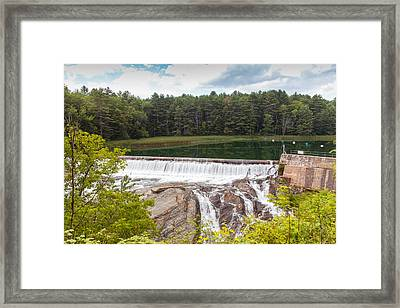 Dam On The Ottauquechee River Framed Print