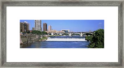 Dam Over A River, Upper St. Anthony Framed Print by Panoramic Images
