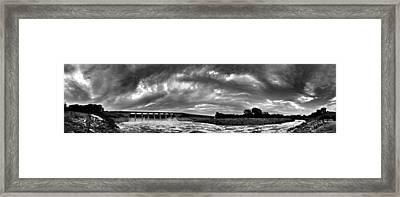 Dam Panoramic Framed Print
