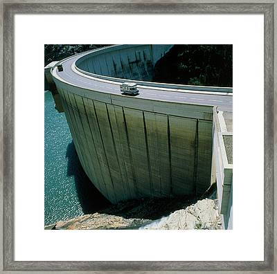 Dam Used For Hydroelectric Power Generation Framed Print by Science Photo Library