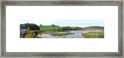 Dam Wide Framed Print