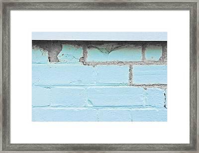 Damaged Brickwork Framed Print by Tom Gowanlock