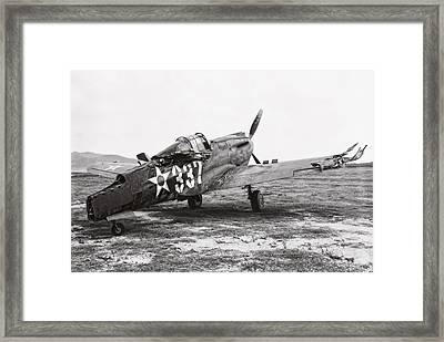 Damaged Curtiss P-40 - Pearl Harbor Hawaii - 1941 Framed Print
