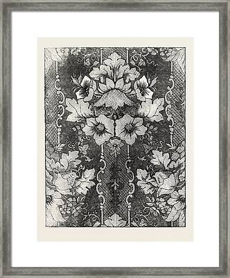 Damask, Halifax Framed Print by English School