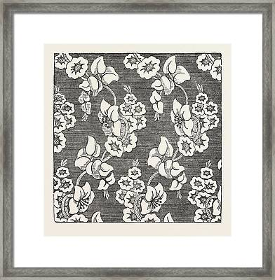 Damask Pattern Framed Print by Shephard And Co., Halifax, English, 19th Century