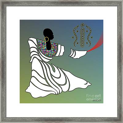 Damballah Loa Framed Print by Walter Oliver Neal