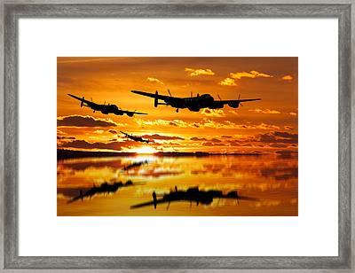 Dambusters Avro Lancaster Bombers Framed Print by Ken Brannen