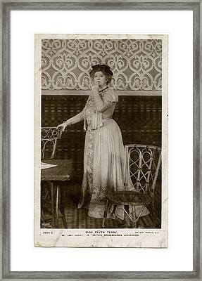 Dame Ellen Alice Terry (1847  1928) Framed Print by Mary Evans Picture Library