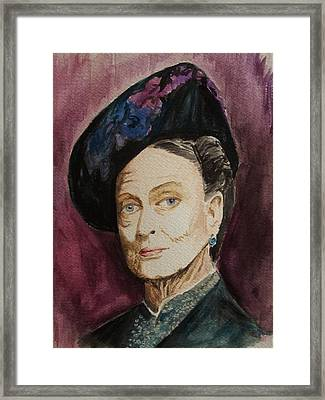 Dame Maggie Smith Framed Print by Amber Stanford