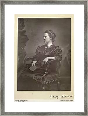 Dame Millicent Fawcett Framed Print by British Library