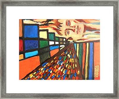 Framed Print featuring the painting Dame Tessa 01 by Mudiama Kammoh