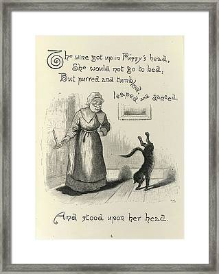 Dame Trot's Cat Framed Print by British Library