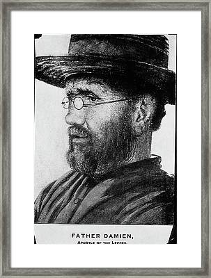 Damien De Veuster Framed Print by National Library Of Medicine