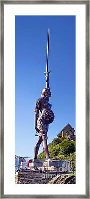 Damien Hurst's Verity Statue Framed Print by Dr Keith Wheeler