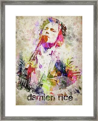 Damien Rice Portrait Framed Print by Aged Pixel
