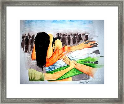 Delhi Gang Rape A Tragedy Framed Print by Tanmay Singh