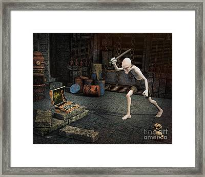 Damn Stupid Thing Framed Print by Jutta Maria Pusl