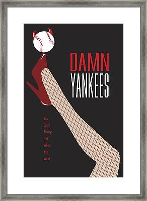 Damn Yankees 3 Framed Print by Ron Regalado