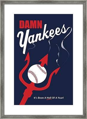 Damn Yankees 4 Framed Print by Ron Regalado