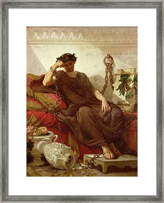 Damocles Framed Print