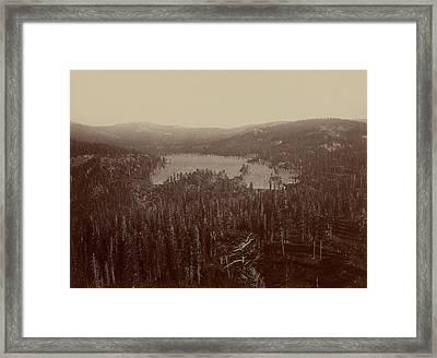 Dams And Lake, Nevada County, California Framed Print