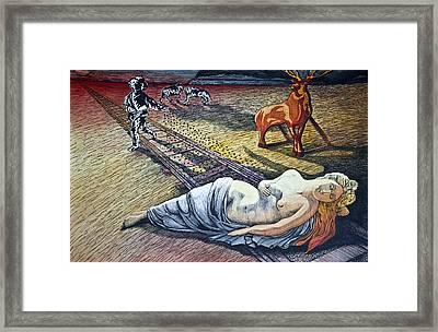 Damsel In Distress Framed Print by Larry Butterworth