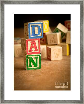 Dan - Alphabet Blocks Framed Print by Edward Fielding