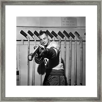 Dan Belisle Of The Vancouver Canucks 1960 Framed Print