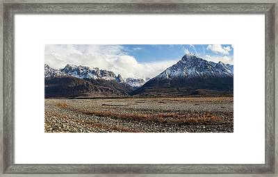 Dan Creek Williams Peak Framed Print