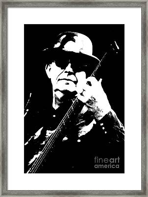 Dan K Brown - The Fixx - Bass Framed Print by Anthony Gordon Photography