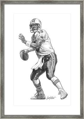 Dan Marino Qb Framed Print by Harry West