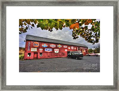 Dan S Antiques Building Framed Print by Dan Friend