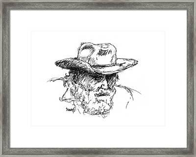 Dan Framed Print by Sam Sidders