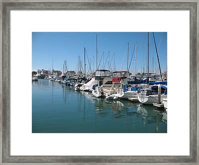 Dana Point Harbor Framed Print by Connie Fox