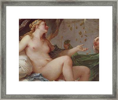 Danae Receiving The Shower Of Gold Framed Print