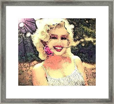 Dana's Marilyn II Framed Print by Cadence Spalding