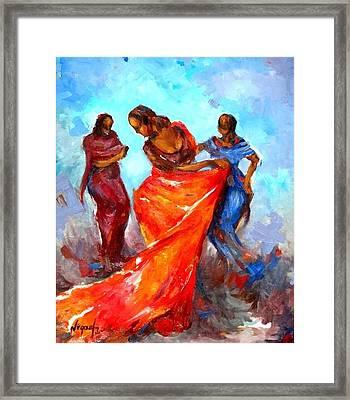 Dance 3 Framed Print by Negoud Dahab
