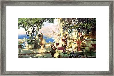 Dance Amongst The Daggers Framed Print