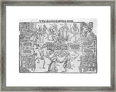 Dance And Song Of Death Framed Print