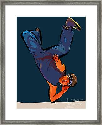 Dance Art Dancer 23 Framed Print by College Town
