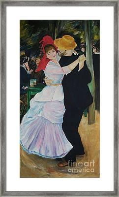 Framed Print featuring the painting Dance At Bougival Renoir by Eric  Schiabor