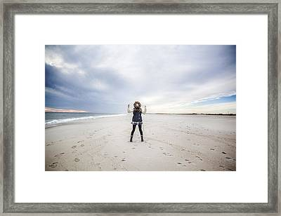 Dance At The Beach Framed Print