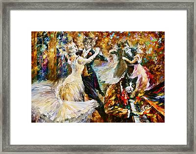 Dance Ball Of Cats  Framed Print by Leonid Afremov